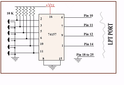 pc based quiz buzzer electronics project using parallel port rh electrosofts com quiz buzzer system circuit diagram electronic quiz buzzer circuit diagram